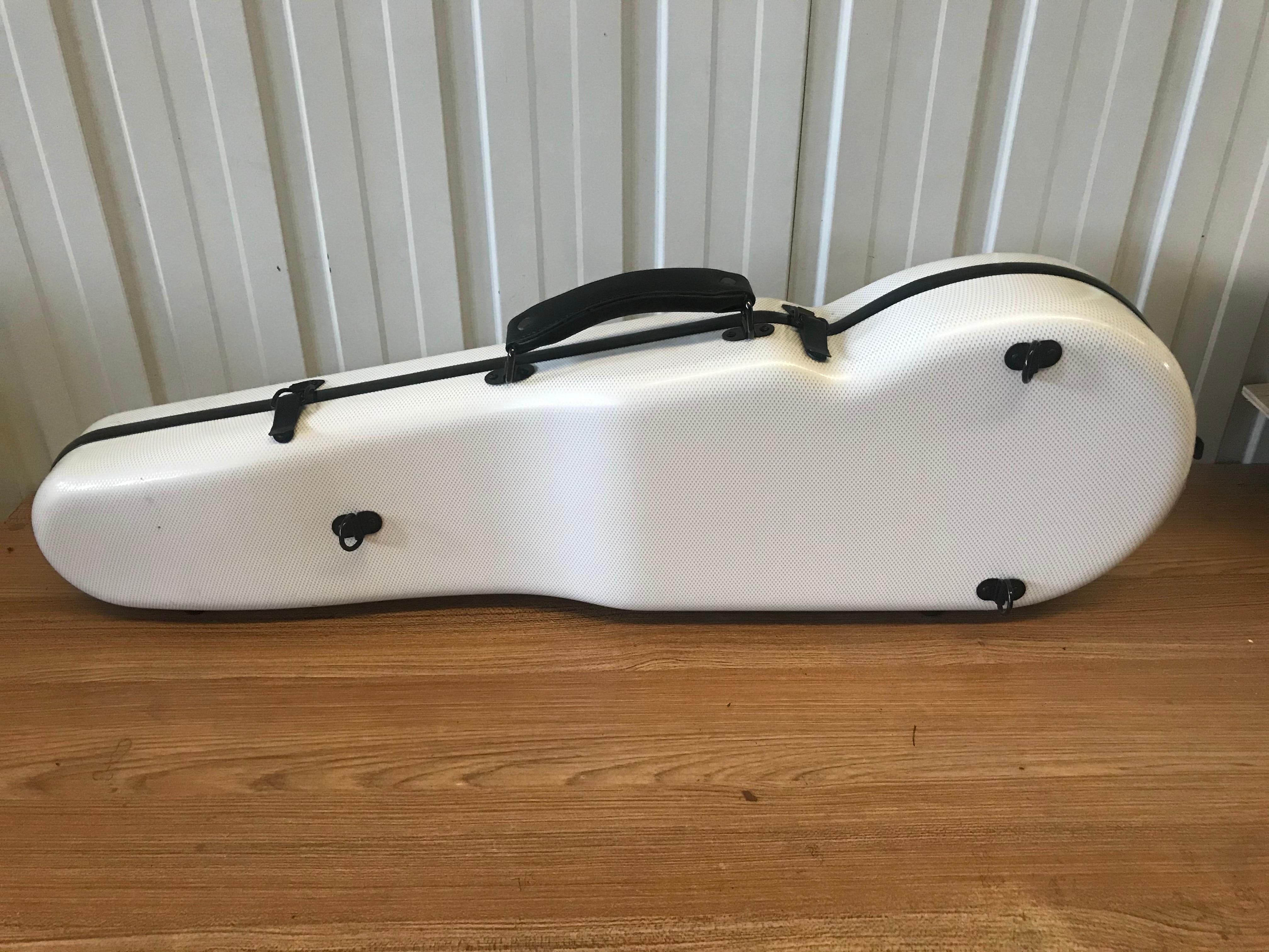 High Quality 4/4 Violin Carbon Fiber Box Hard Violin Case Triangle Light Music Instrument Free Shipping enlarge