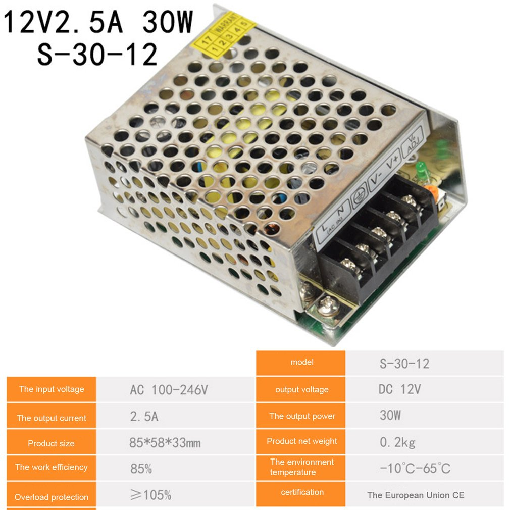 Switching Power Supply DC12V 1A 1.25A 2A 2.5A 3A 3.2A 4.2A 5A 6A AC 220V to DC 12 Volts AC-DC 12V for 12V LED Strip