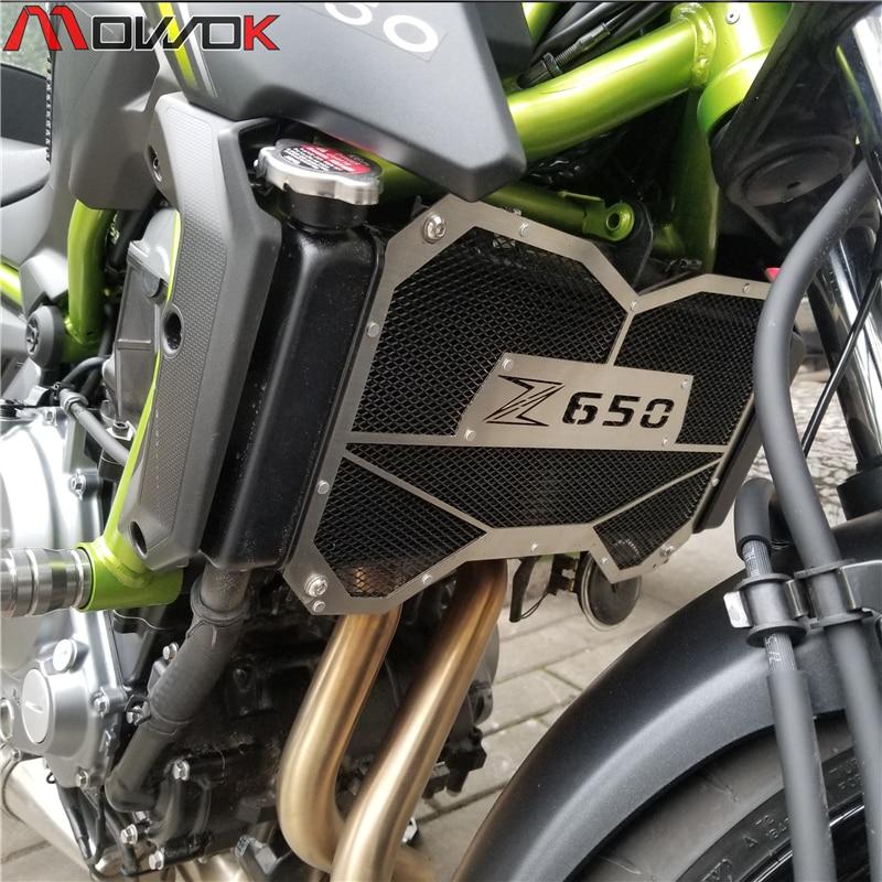 Мотоцикл для Kawasaki Z650 2017 2018 z650 решетка радиатора Крышка масляного охладителя воды
