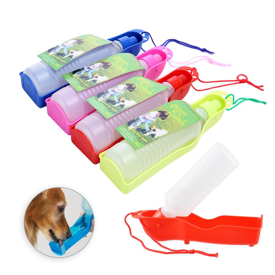 250ml / 500ml naminių šunų vandens butelis, plastikinis - Naminių gyvūnėlių produktai - Nuotrauka 5