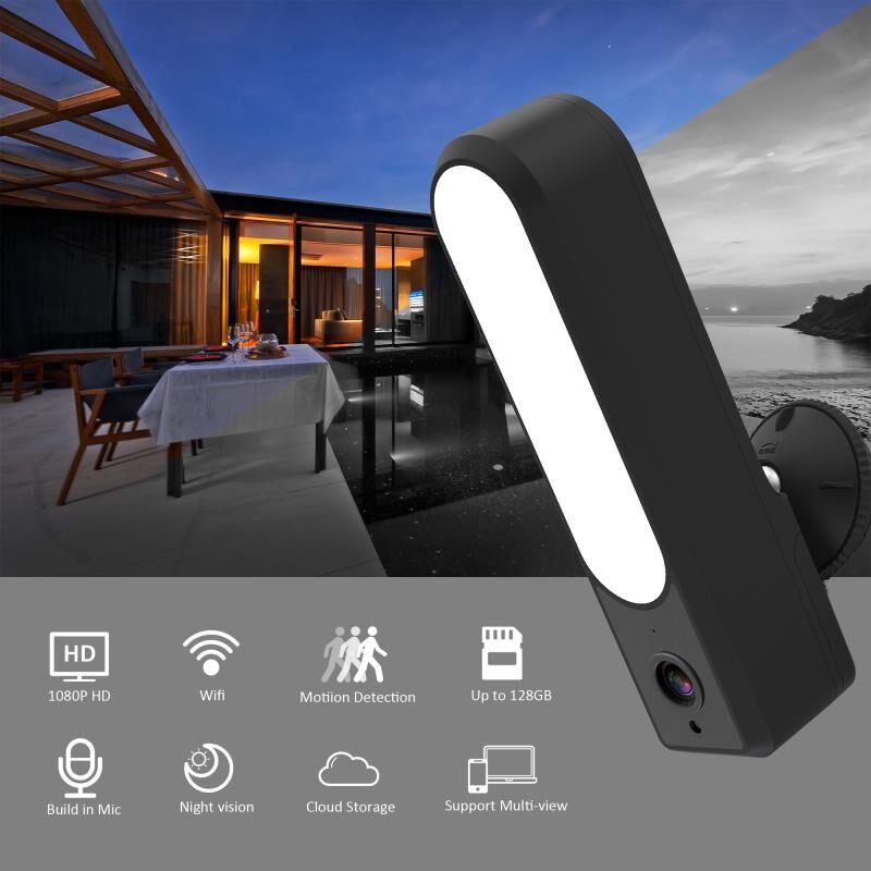 Wdskivi Schijnwerper Ip Camera Hd 1080P Waterdichte Outdoor Led Lamp Ip Camera P2P Wifi Security Camera Cctv Surveillance Camera