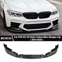 3d style dry carbon fiber bumper front lip for bmw f90 m5