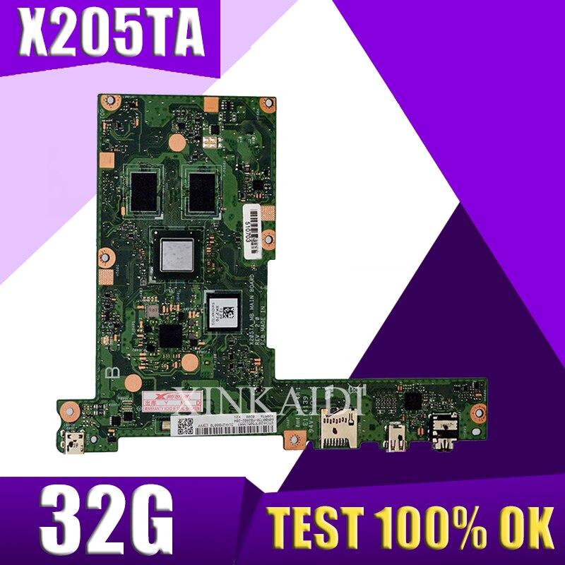 Placa-mãe do Portátil para Asus Xinkaidi Teste Original Mainboard 32g X205ta X205taw X205t X205