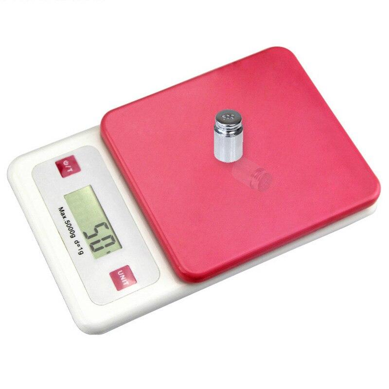Цифровые кухонные весы с ЖК-дисплеем, 5000 г/1 г, портативные кухонные весы для ювелирных изделий