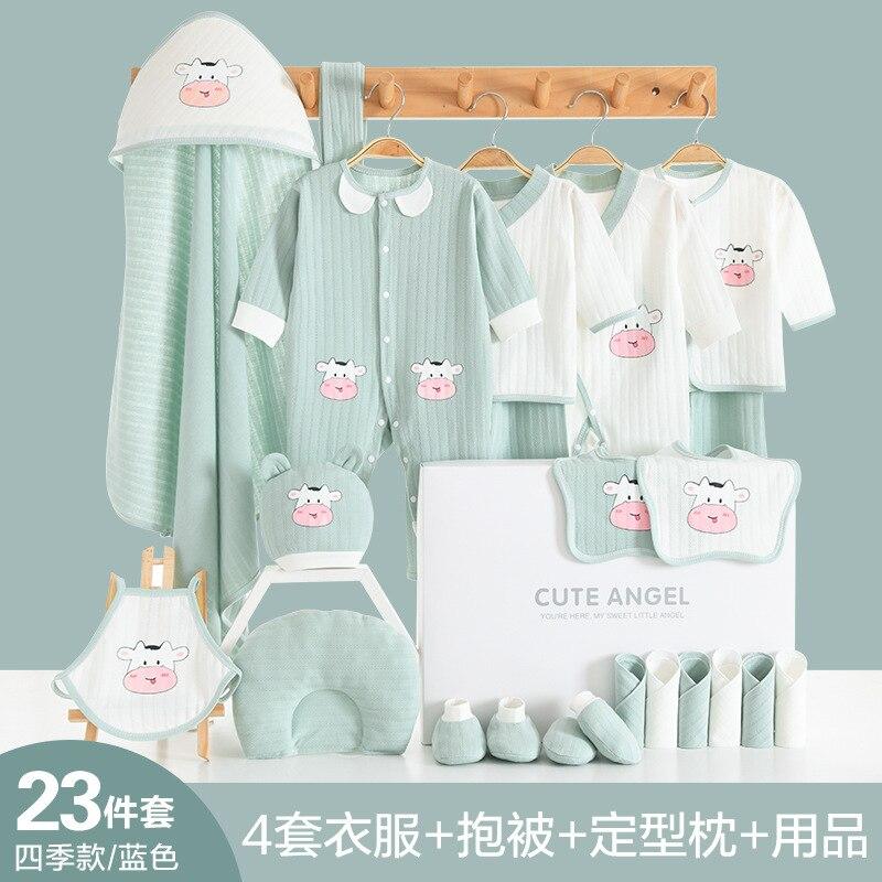 Newborn Layette Gift Set for Baby Boys or Girls,23 Piece Gender Neutral Newborn Clothes & Accessories Set,Fits Newborns to 3 M enlarge