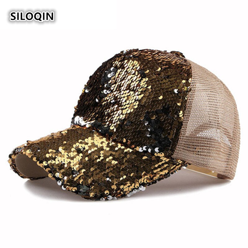 SILOQIN  Womens Ponytail Baseball Cap 2019 New Trend Caps Snapback Adjustable Summer Outdoor Leisure Breathable Visors