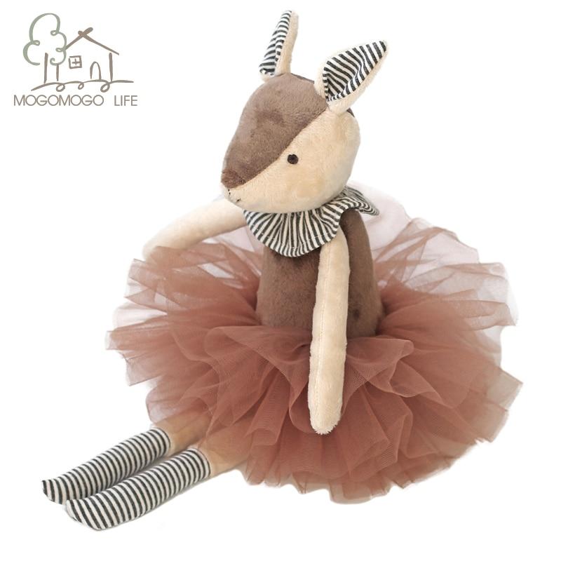 Роскошный Mogo ручной работы 37 см милый олень в Туту плюшевая мягкая набивная кукла-животное декоративные игрушки домашние аксессуары