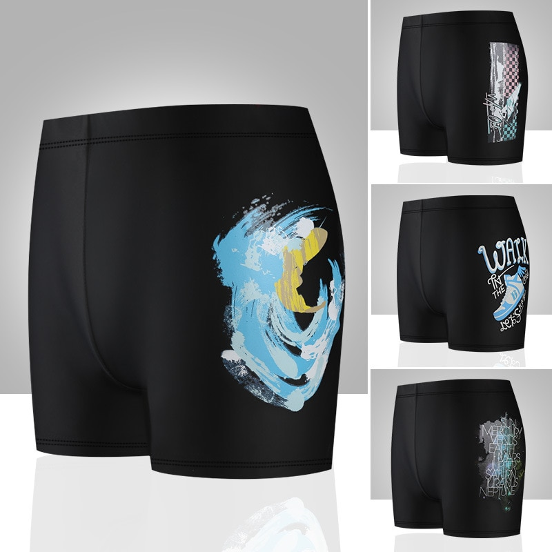 Fashion Printed MEN'S Swimming Trunks Temperature Detector Color Changing Comfortable Breathable Loose Anti-Embarrassment Boxer
