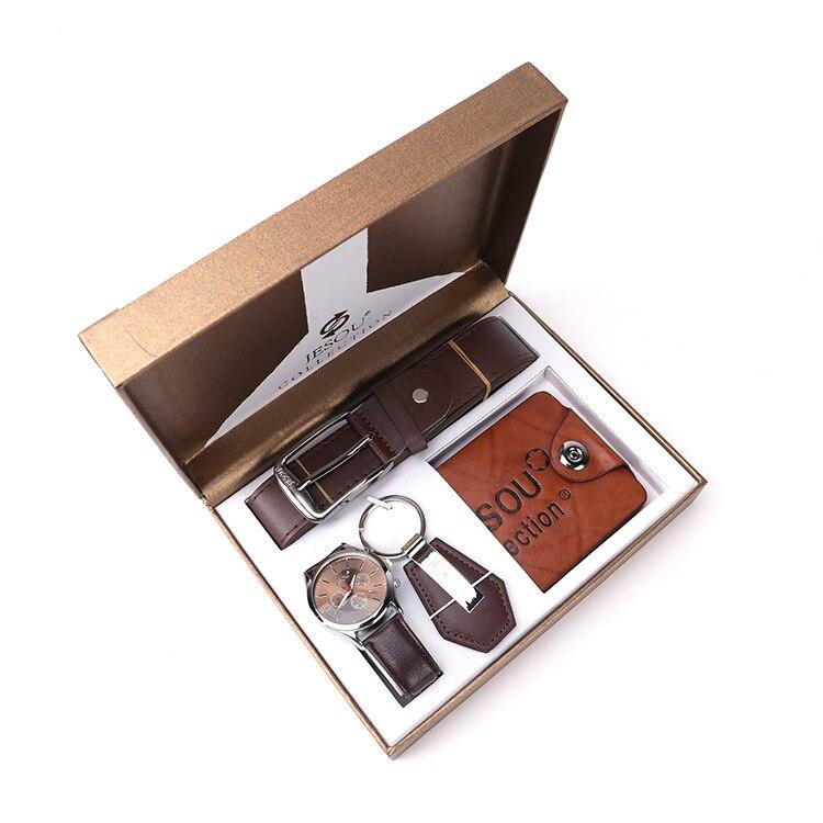 Caja De cuatro regalos Para hombre, y llavero billetera con reloj De...