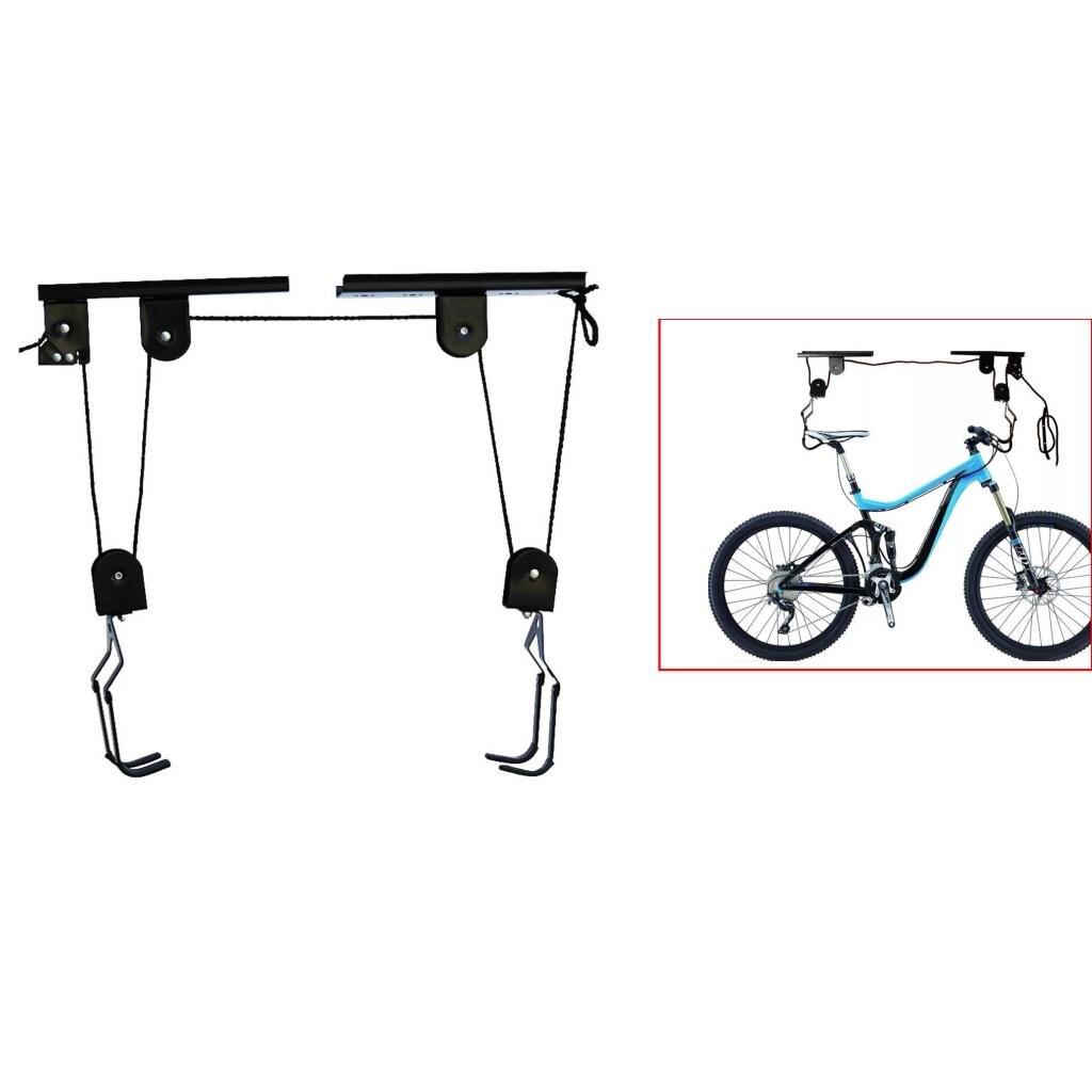 Premium 40kg charge plafond monté vélo vélo ascenseur support de stockage Garage hangar crochet palan poulie système accessoires