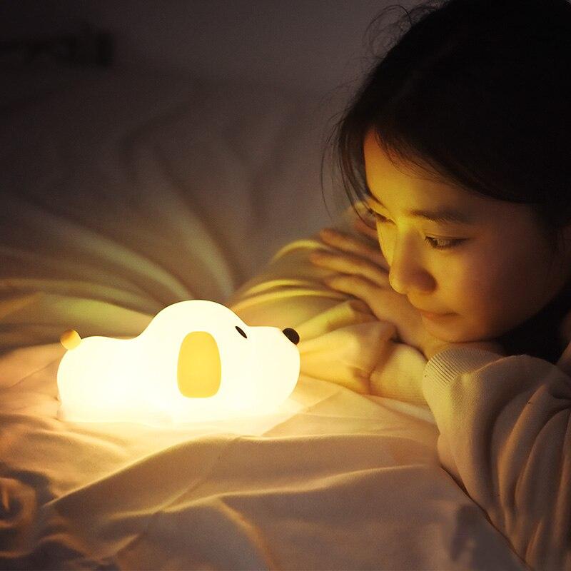 Batería recargable 1200mA lámpara de perro luz de noche de bebé dormitorio decoración luces para niños vacaciones regalos de cumpleaños juguete