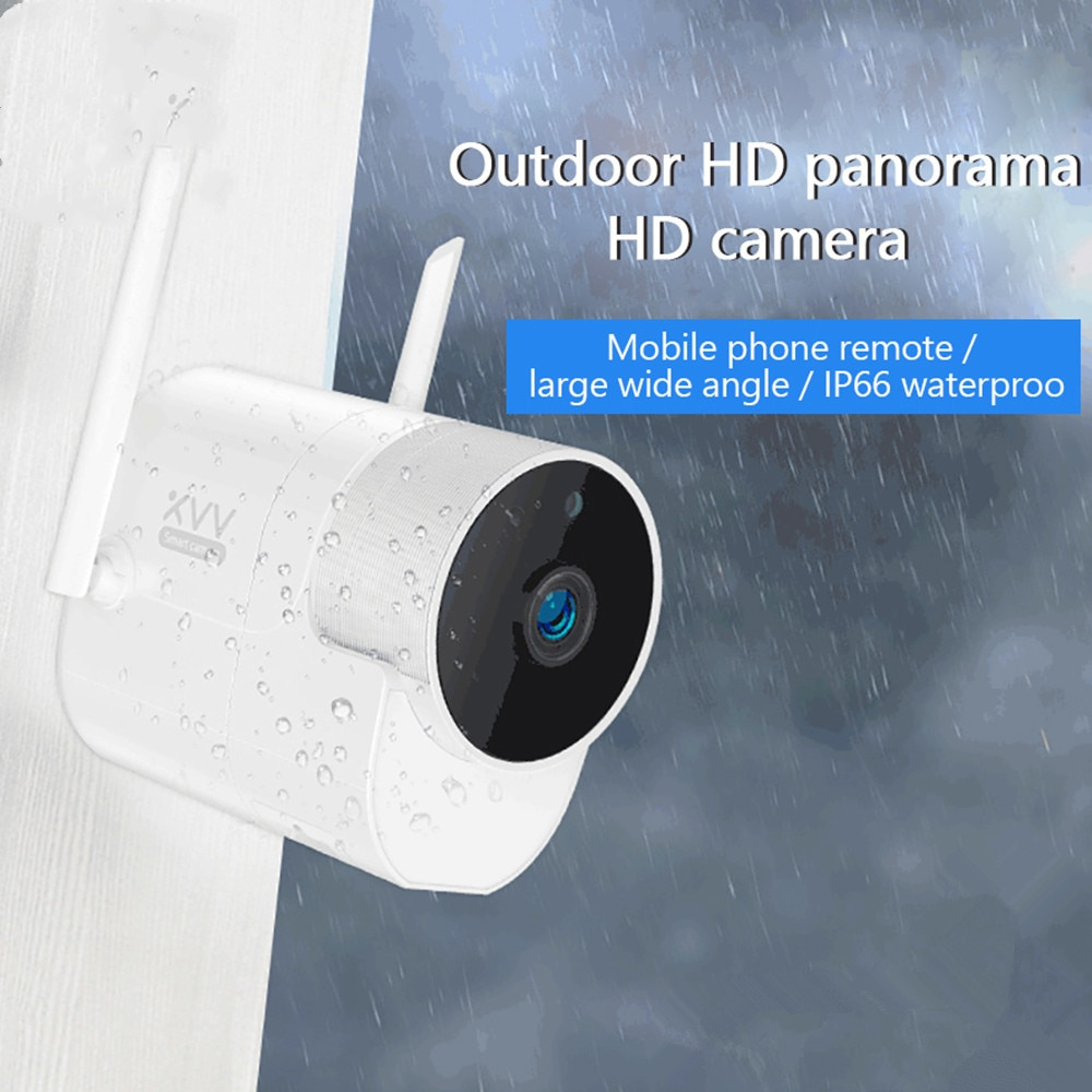 Xiaovv חיצוני מצלמה מעקבים מצלמה 360 IP 1080P 180 ° תינוק צג בחדות גבוהה App בקרת מצלמה