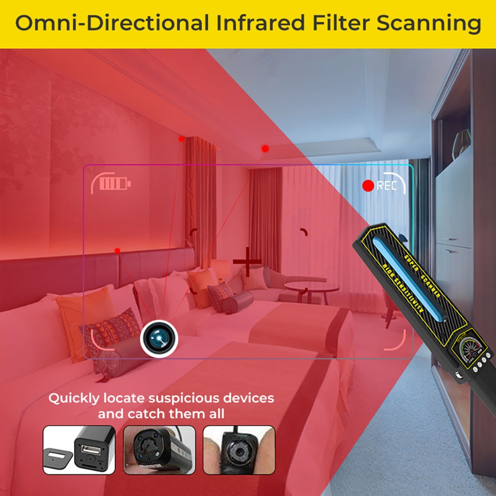 Smart Handheld GPS Bug Detector Anti Spy Detector Rf GPS Signal Detector  Finder Anti-Location Monitoring enlarge
