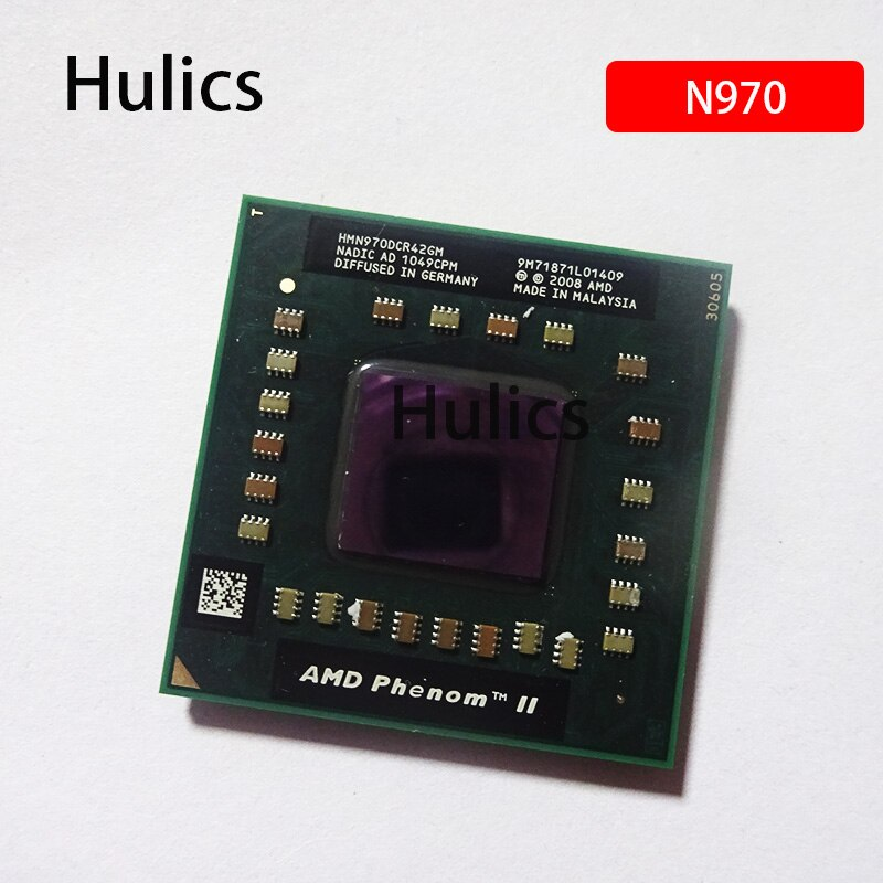 Hulics-معالج AMD Phenom II رباعي النواة ، أصلي ، N970 ، 2.2 جيجاهرتز ، رباعي النواة ، خيط ، وحدة المعالجة المركزية ، HMN970DCR42GM ، soft pak