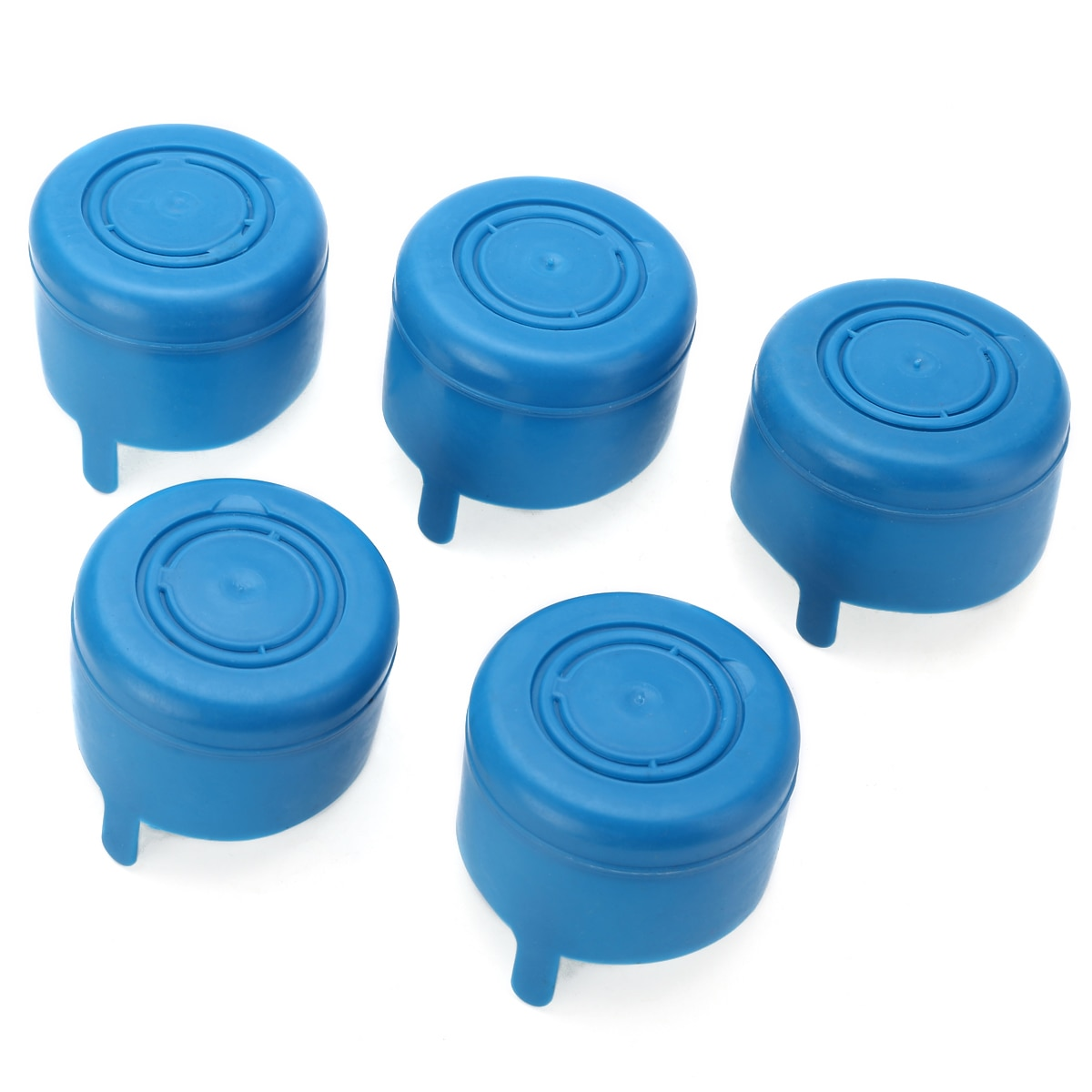 5Pcs Blue 5Gallon Water Bottle Caps Anti Splash Peel Off Tops Snap Replacement Water Bottle Snap Cap For 18.9L Water Bottle Cup