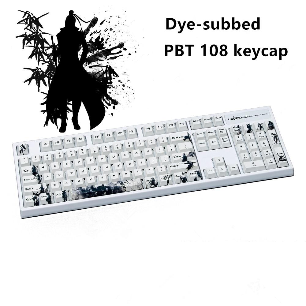 خمسة جوانب صبغ تحت PBT Keycap 108 مفاتيح الكرز الشخصي كاي كابس ل MX مفاتيح لوحة المفاتيح فارس طاغية مفتاح كاب