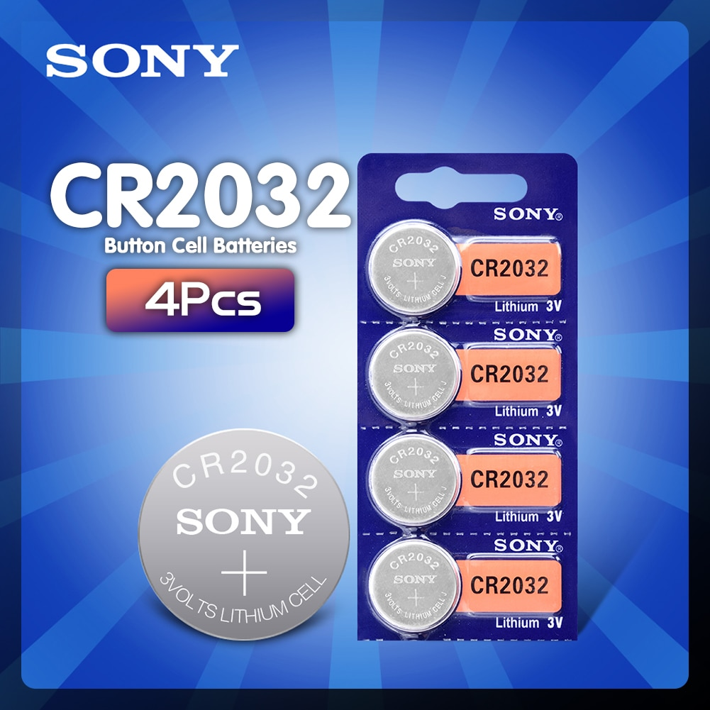 2020 neue 4 stücke cr2032 batterie 3v taste cell-münze batterien für uhr computer cr 2032 DL2032 ECR2032 KL2032 5004LC