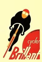 brillant cycles vintage chic retro tin sign wall plaque fridge magnet bike