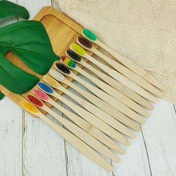 Набор зубных щеток (10 шт/13 цветов) из бамбука
