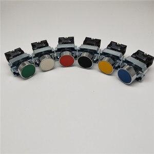Momentary Push button switch 22mm 10A 240V~3A Circular small size Flat round Panel NC/NO XB2-BA31 XB2-BA42