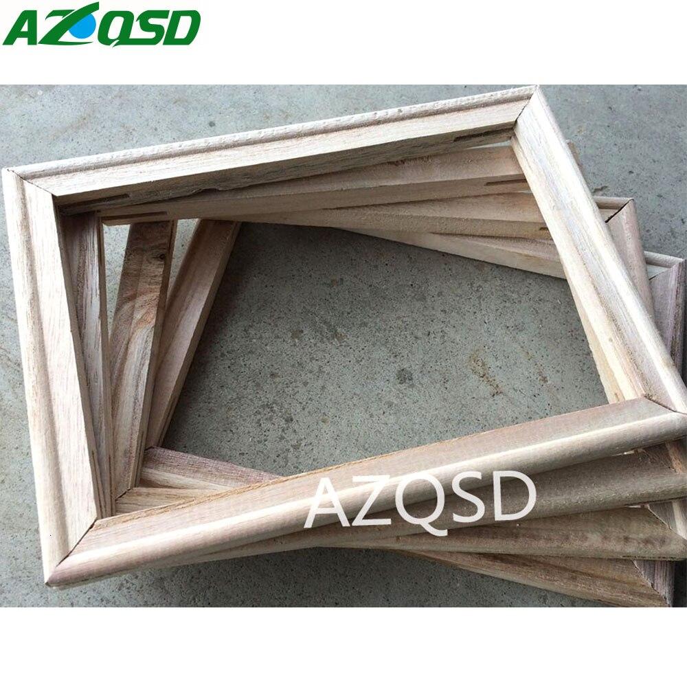 AZQSD 40x50 см DIY деревянная рамка для живописи маслом по номерам живопись аксессуары каллиграфия в рамке мозаичная сборка
