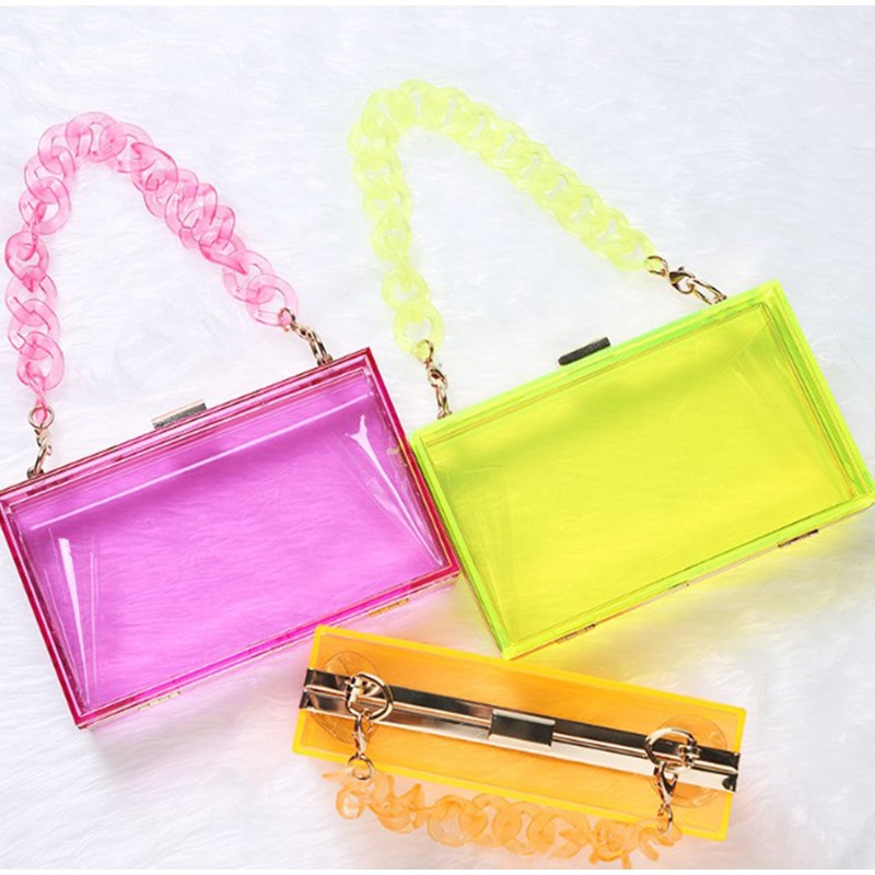 Women Shoulder Bags Vintage Handbags Women's Flap Luxury Evening Bags Female Underarm Shoulder Jelly Chain Bag 2020 Summer New