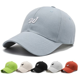 New men's and women's summer baseball caps unisex breathable sports solid color shade adjustable hip-hop baseball caps