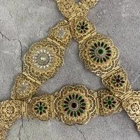 moroccan classic girdle women wedding dress body jewelry waist chain length adjustable bride crystal girdle gift