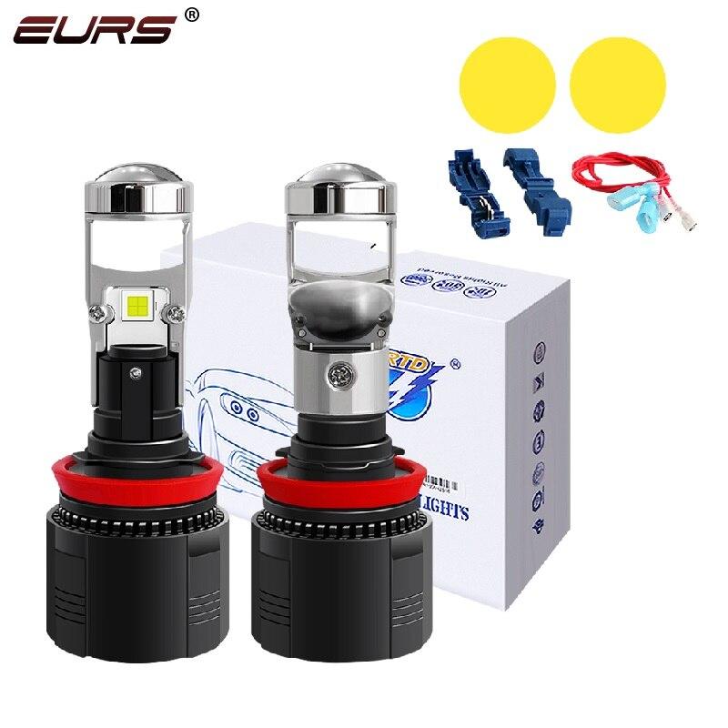 Projetor led lente h4 led h7 h11 h8 hb3 9005 hb4 9006 carro/motocicleta 6000k 3000 12v 12000lm carro farol lâmpadas kit de conversão