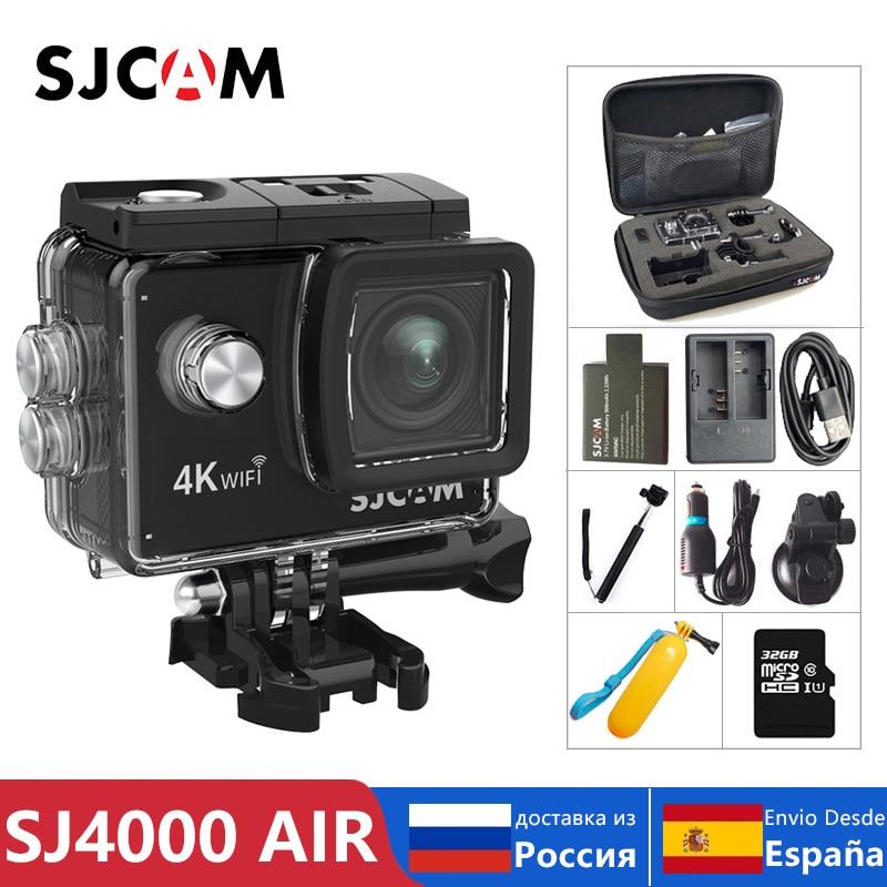 "100% Cámara de Acción de aire SJCAM SJ4000 Original Full HD Allwinner 4K 30FPS WIFI 2,0 ""Pantalla Mini casco impermeable deportes DV Cámara"