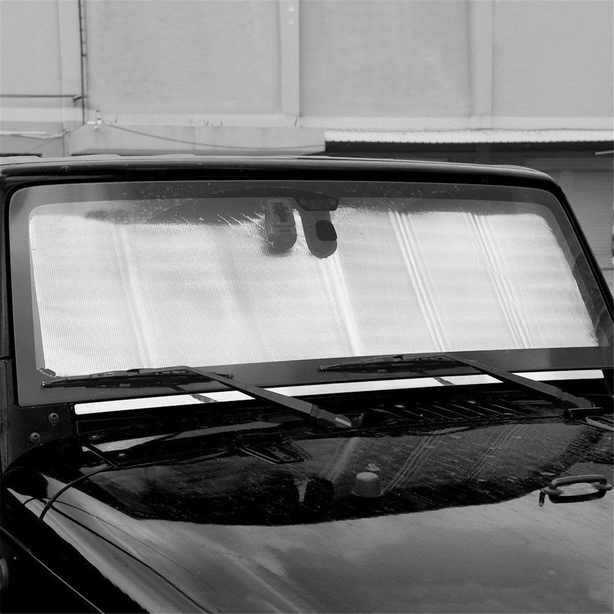 Car Auto Front Windshield SunShade for Jeep Wrangler TJ JK JL 2007-2017+ Car Visor Window Solar UV Rays Protector Cover