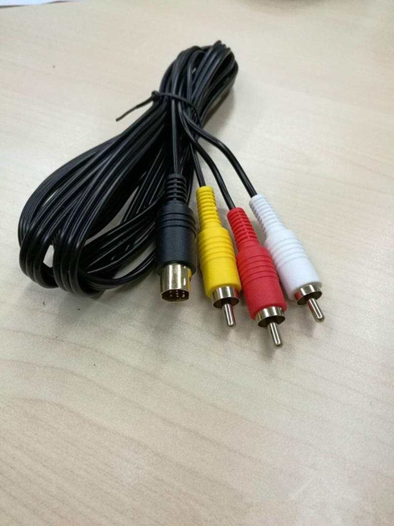 Новый никелевый композитный кабель SAV RCA для Sega Saturn S-Video AV