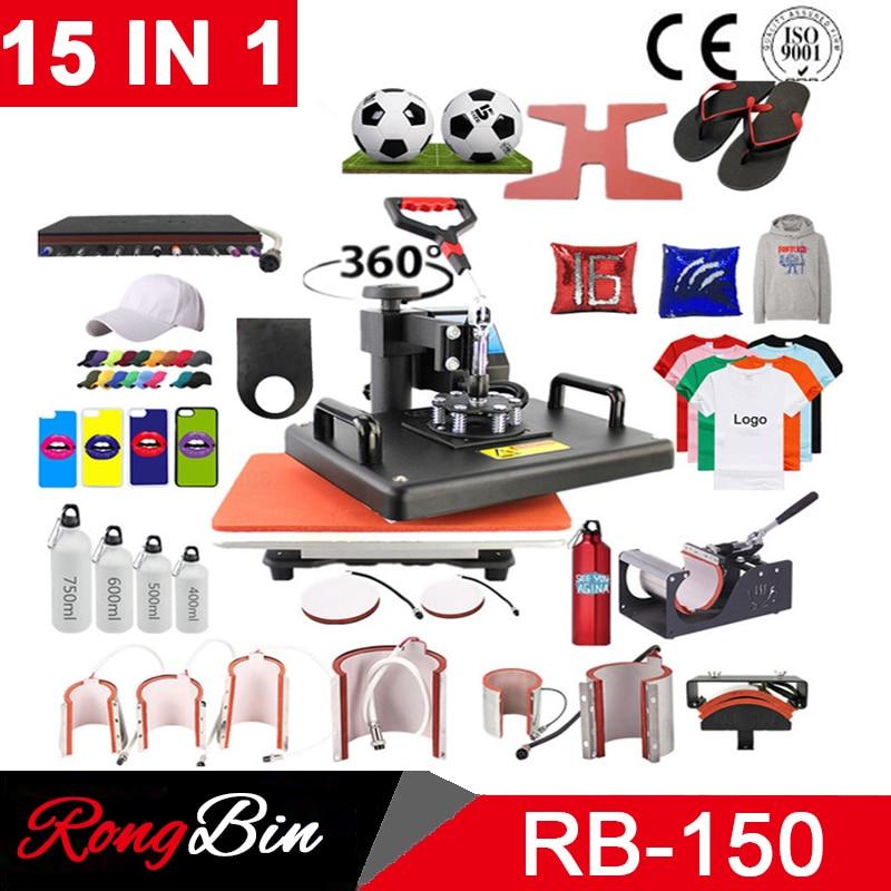 Cheap 15 in 1 Heat pen Press Machine,Sublimation Printer/shoe Transfer Machine Heat Press For Mug/Cap/T shirt/shoe/bottle/pen