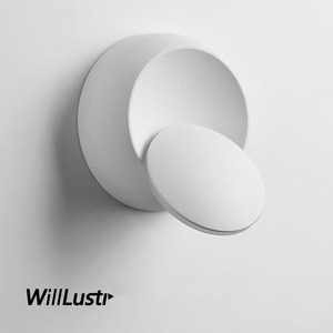 360° Rotatable Wall Lamp Aluminum Sconce Crescent Moon Eclipse Hotel Cafe Hall Aisle Staircase Balcony Bedside Modern LED Light
