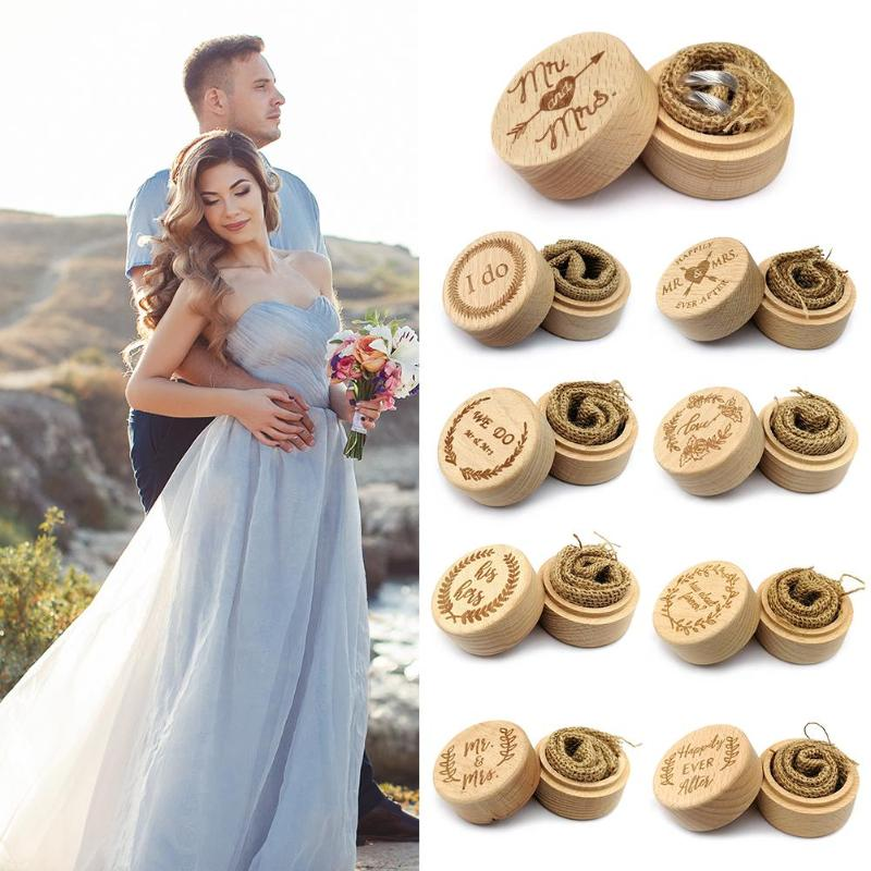 Wooden Engagement Ring Box Wood Engagement Wedding Ring Box Jewelry Display Storage fortnite