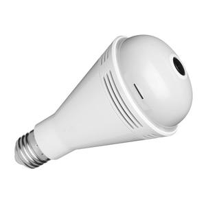 AM05-1080P WIFI Light Bulb Camera 360 degree Wide Angle Fisheye HD Indoor Camera Bluetooth Speaker Colorful Light White Light
