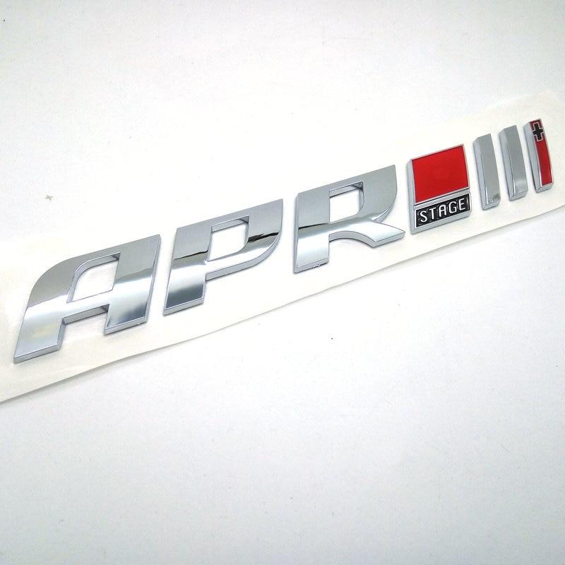 Badges de voiture de course ABS, 10 pièces, livraison directe, stade 1 + 2 + 3 +, badges de voiture de course, 1 2 3 Plus, autocollants de voiture 3D, GOLF, vente en gros