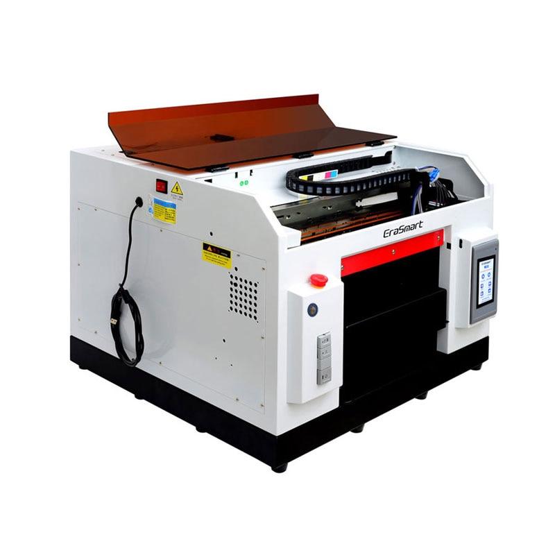 Impresora Uv plana de goma de borrar Mart A3, impresora de fundas de teléfono Uv para diversos materiales, superficie curva plana