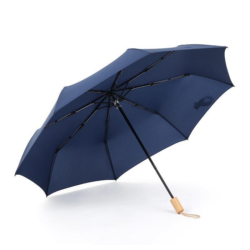 Waterproof Full Automatic Umbrella Rain Women Men 3 Folding Light and Durable Super Strong Umbrellas Kids Rainy Sunny