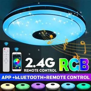 200W LED Ceiling Light Dimmable RGB Music Ceiling Lamp with bluetooth Speaker Smart APP Remote Control for Livingroom 85-260V
