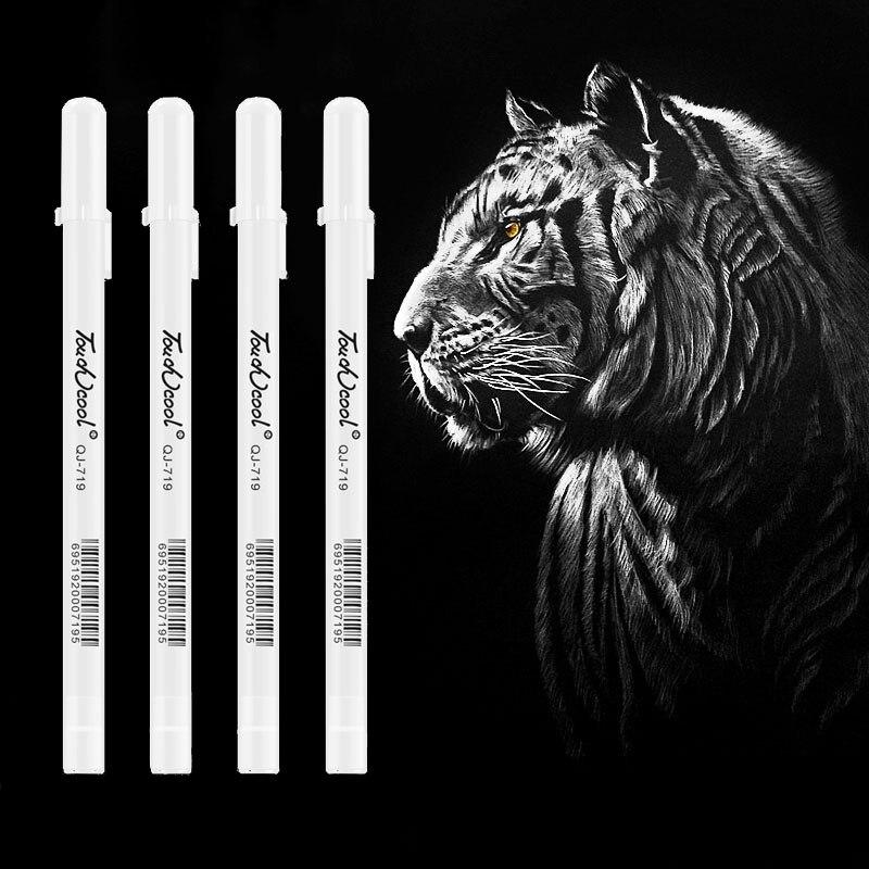 Highlighter White Art Painting Pen Creative Design Hook Line Liquid Chalk Mark Paint Pen School Stationery Office Supplies