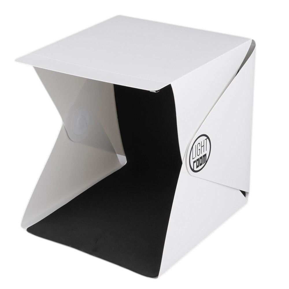 22.6cm x 23cm x 24cm Portable Mini Photo Studio boîte photographie toile de fond intégré lumière Photo boîte en gros livraison directe