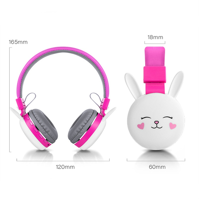 Latest model Earphones Wireless Cat Ear Headphones Bluetooth Young People Kids Foldable Stereo Headset 3.5mm Plug With Mic enlarge
