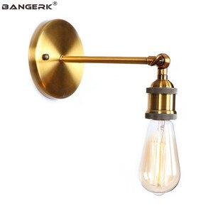 Industrial Vintage Sconce Wall Lights Loft Iron Adjust E27 Edison LED Wall Lamp Bedside Home Decor Indoor Lighting Bronze