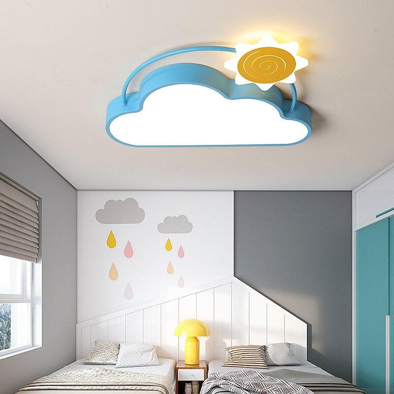سحابة تركيب المصابيح الإبداعية Led ضوء غرفة نوم للفتيات غرفة الشمس طائرة الاطفال الصبي مصباح السقف الطفل غرفة الأطفال مصباح ليد