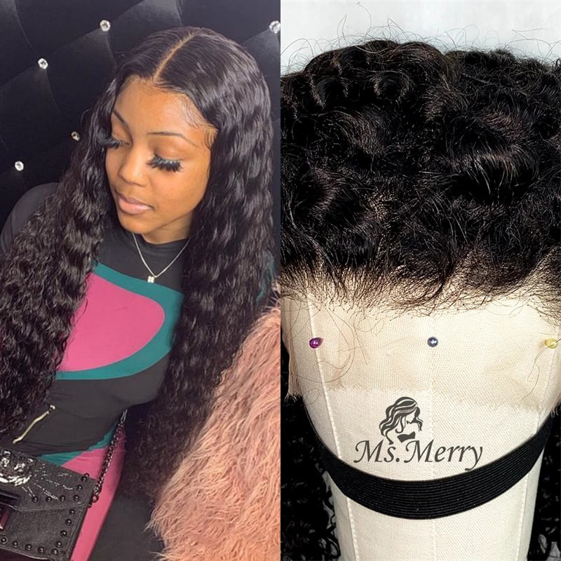 Real HD Lace Frontal Wigs Deep Wave 13X4 Lace Front Wig HD Lace Wigs with Baby Hair Brazilian Virgin Human Hair for Black Women