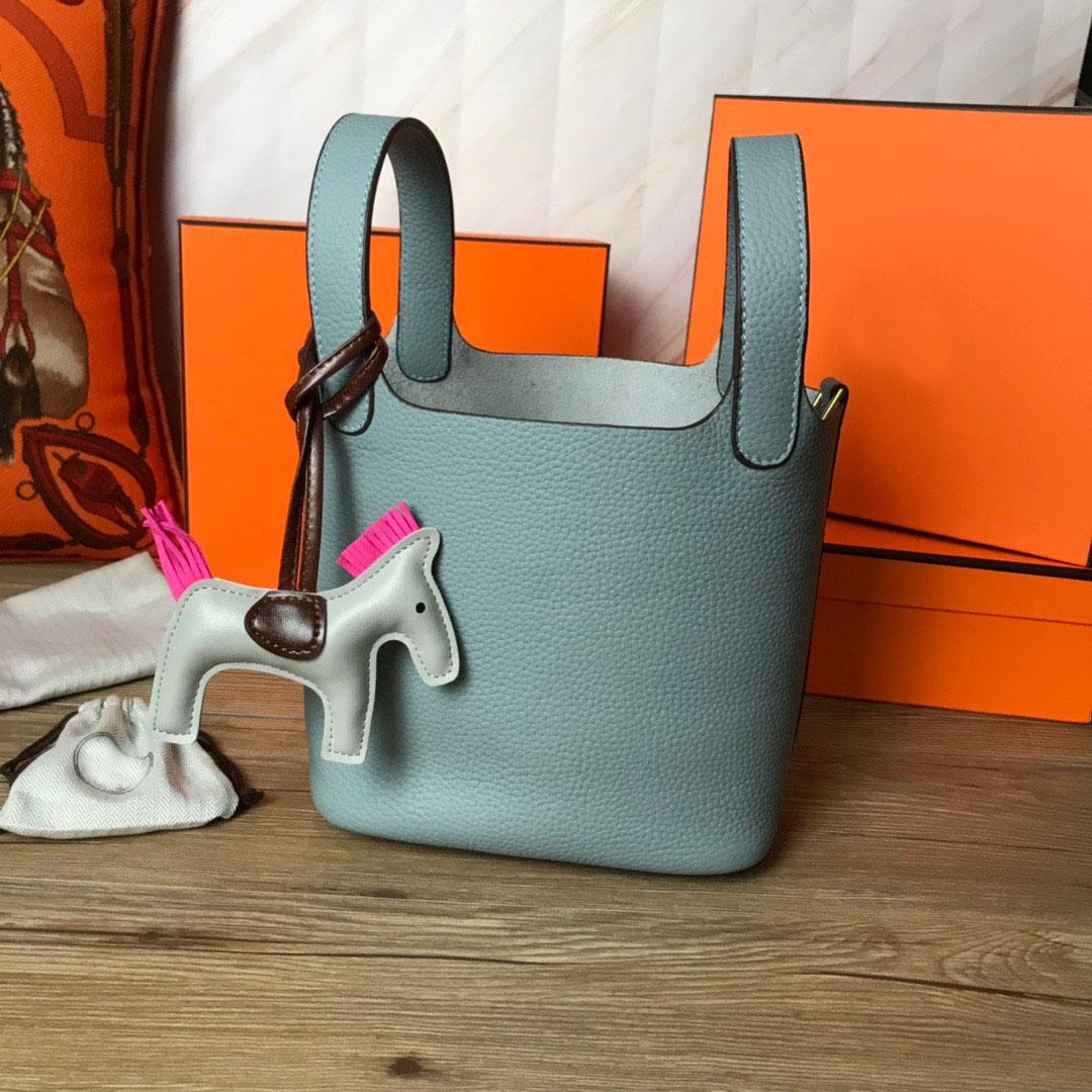 2021 High-End Brand Luxury Handbags Women Shoulder Bags Designer Bag Basket Cowhide Top-handle Bag 5