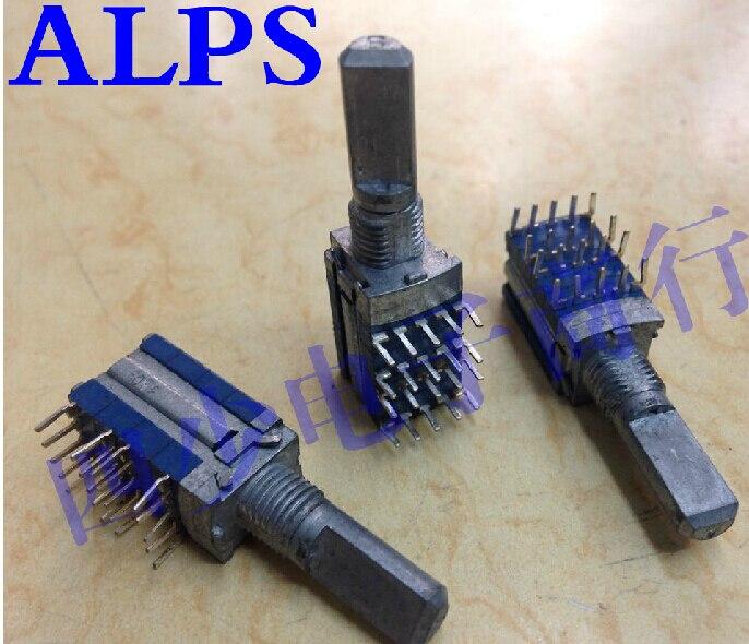 2 uds./unids/lote ALPS Alps SRBM interruptor de banda, interruptor giratorio 4, 4 ejes de largo 20MM
