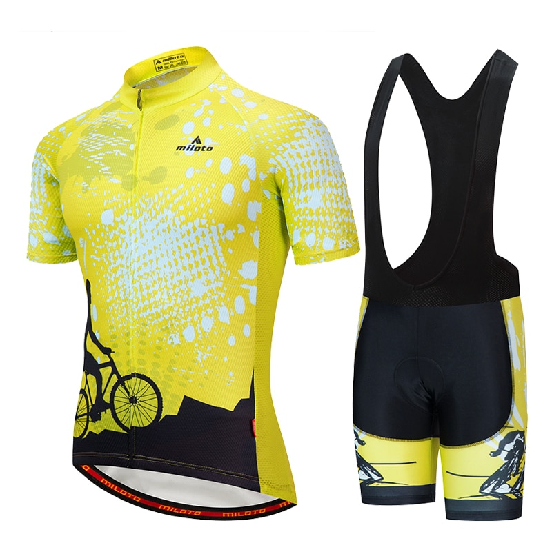 Conjunto De ropa De Ciclismo De equipo profesional, Maillot De manga corta...