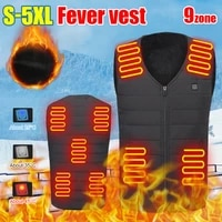9 heating zone heated vest usb charge heated sleeveless jacket with 3 adjustable levels thermal vest winter warm vest